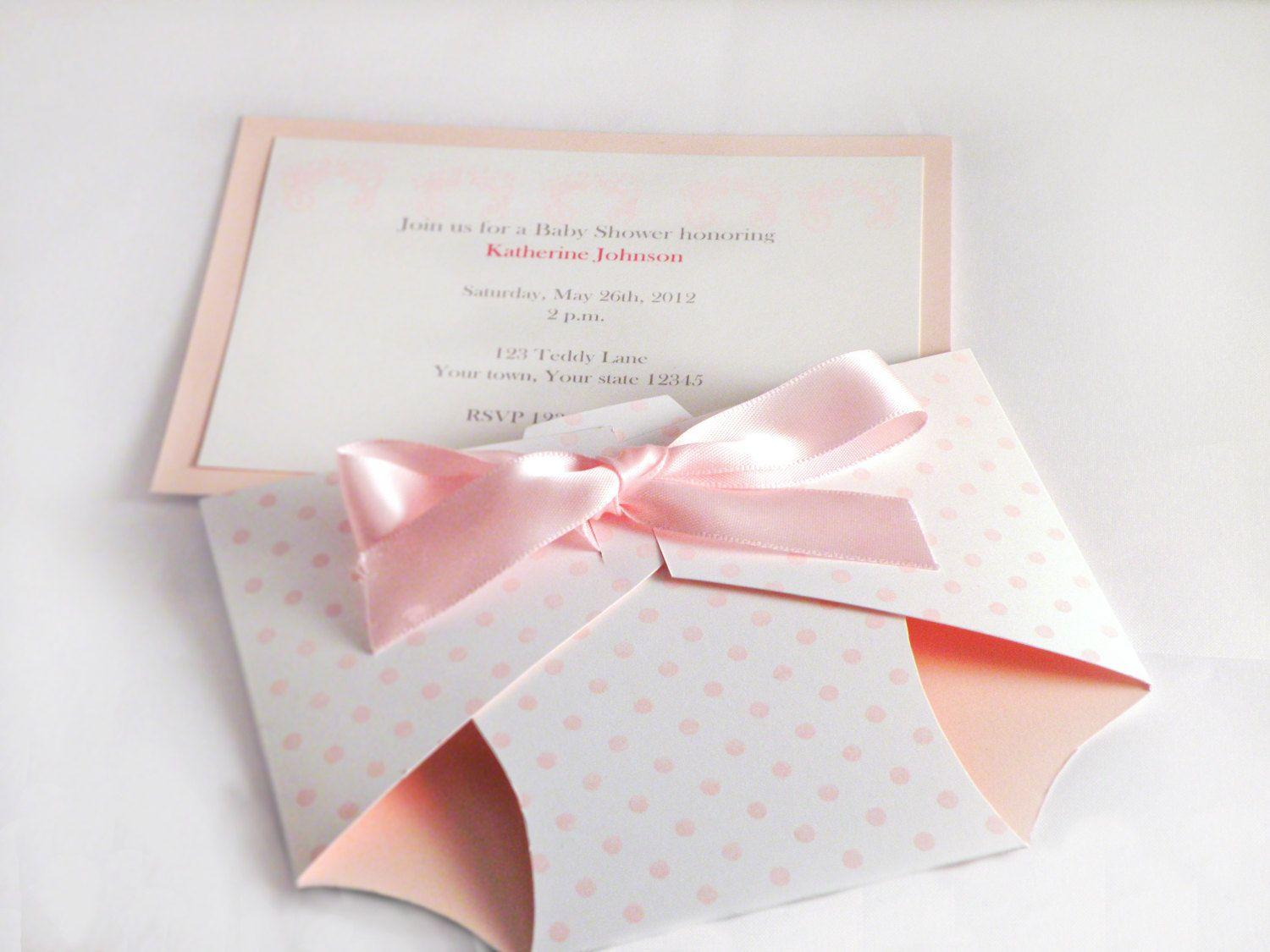 Baby Shower Diaper Invitations Template