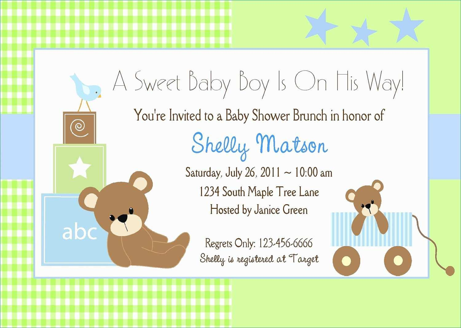Baby Shower Invitation Template Powerpoint