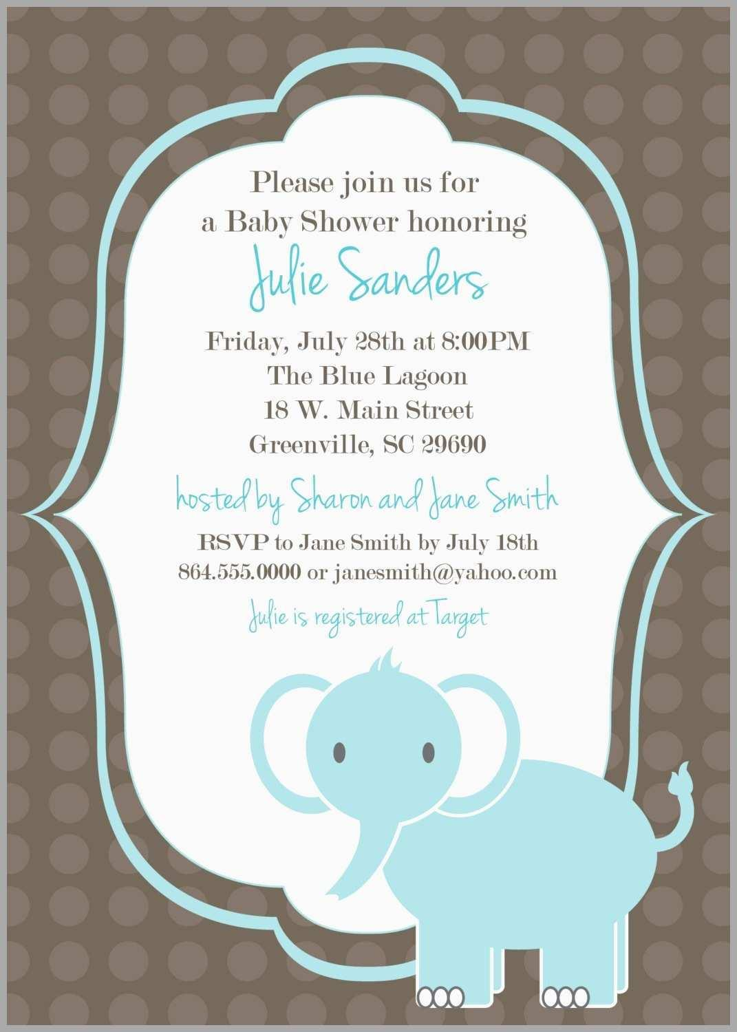 Baby Shower Invitation Templates For Boy Free