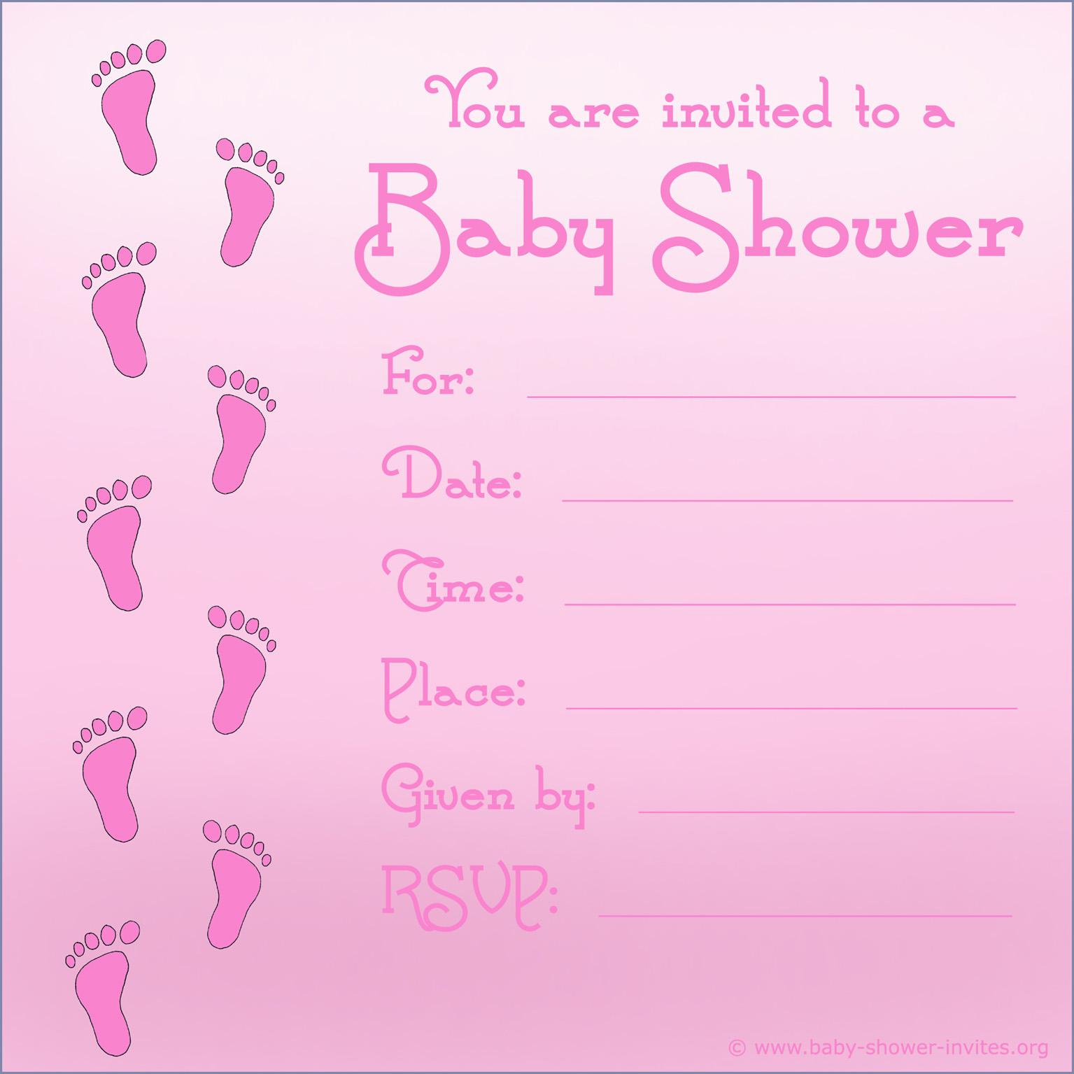Baby Shower Invitation Templates For Girl Free