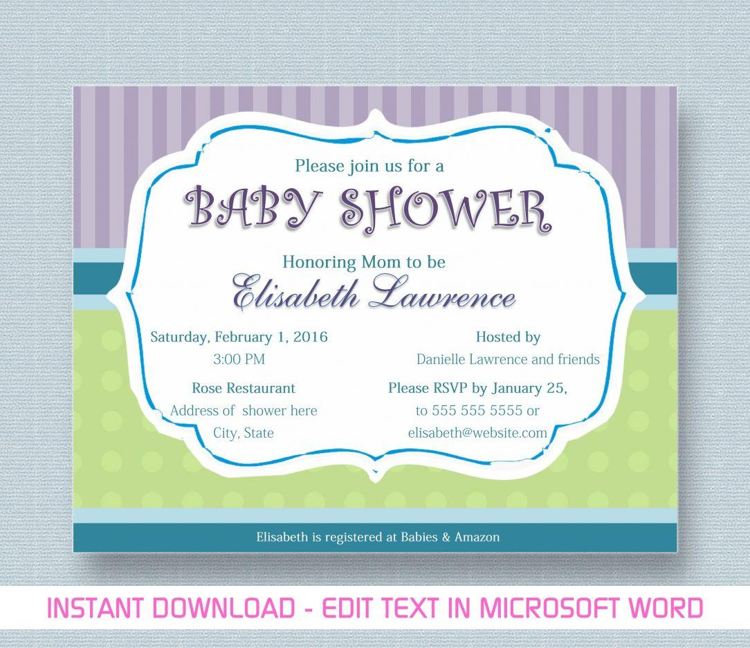 Baby Shower Invitation Templates Free Uk