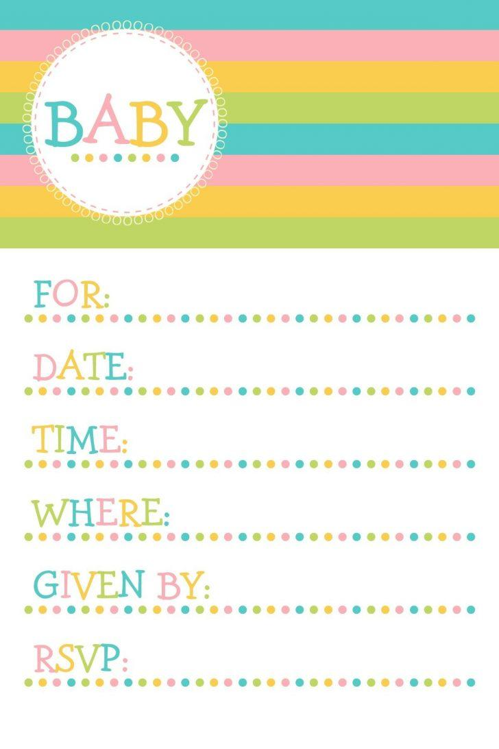 Baby Shower Invitation Templates Printable