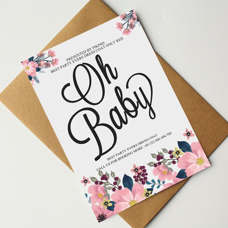 Baby Shower Invitations Templates Psd