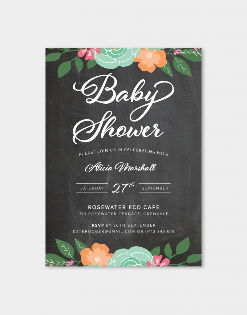 Baby Shower Printable Invitation Paper