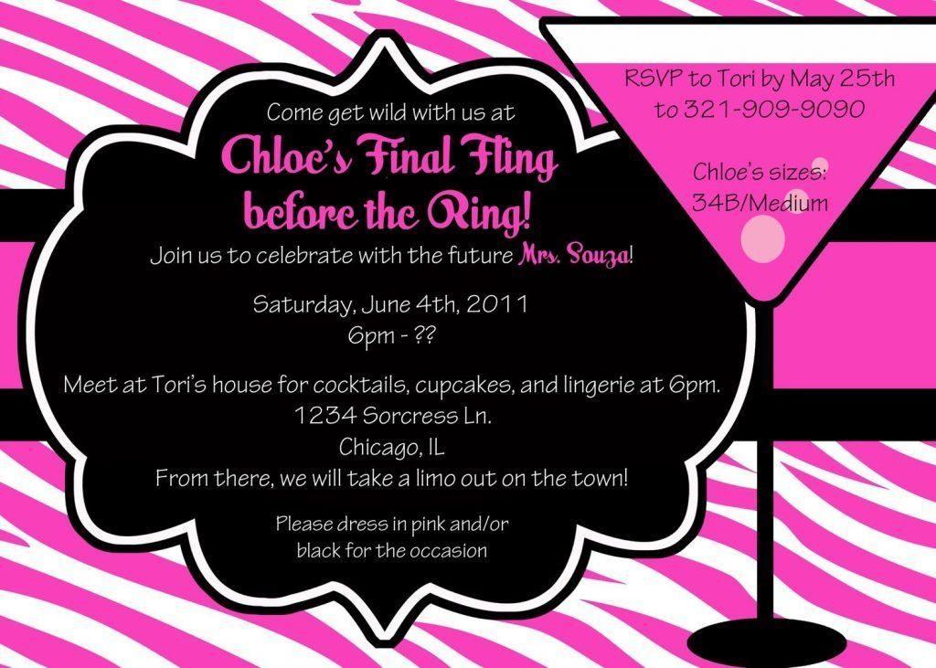 Bachelorette Invitation Templates Free