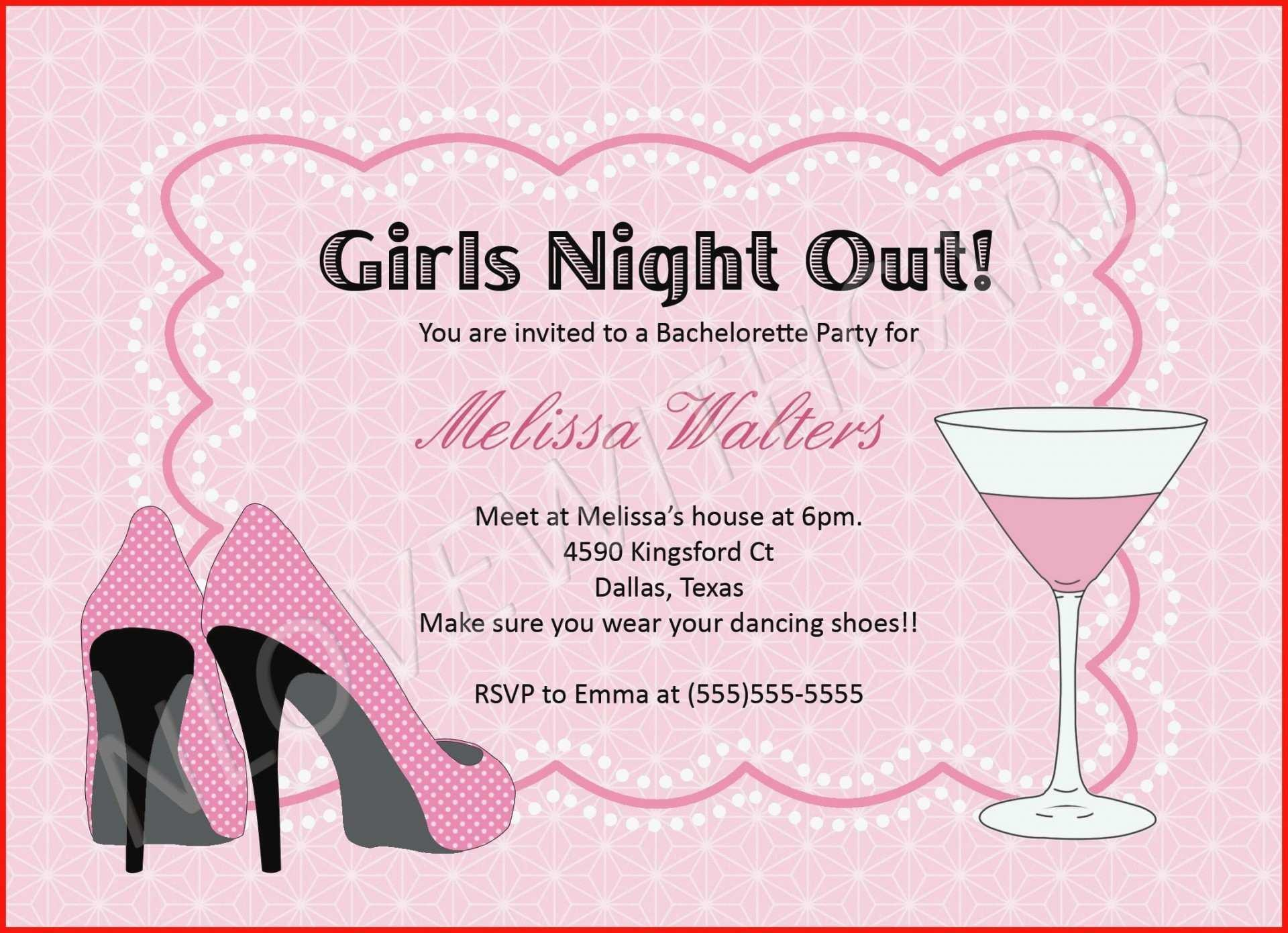 Bachelorette Invitations Templates Free
