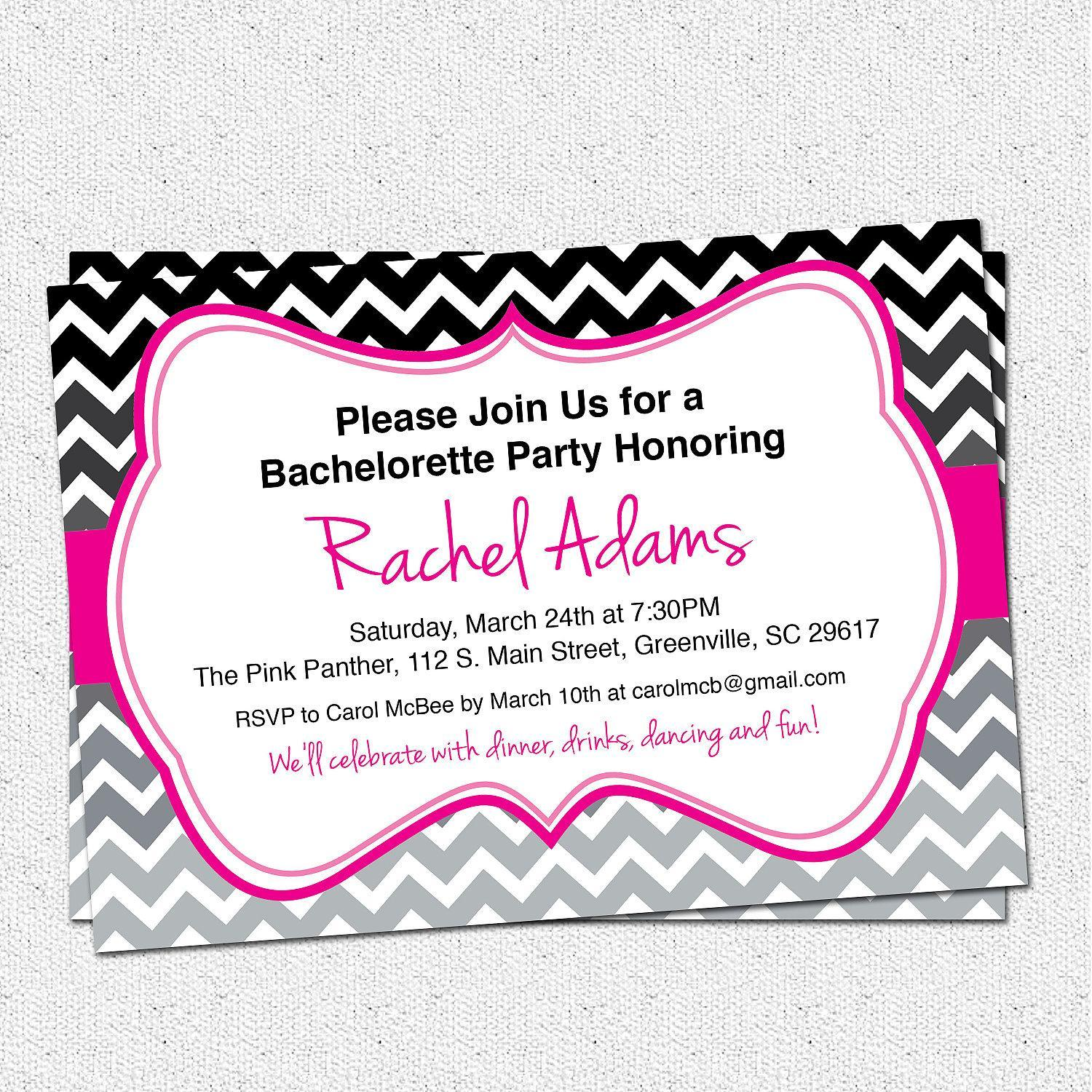 Bachelorette Invitations Templates Microsoft