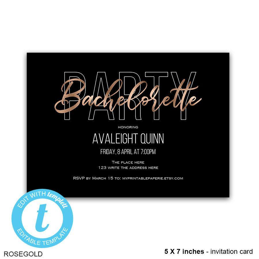 Bachelorette Invites Templates