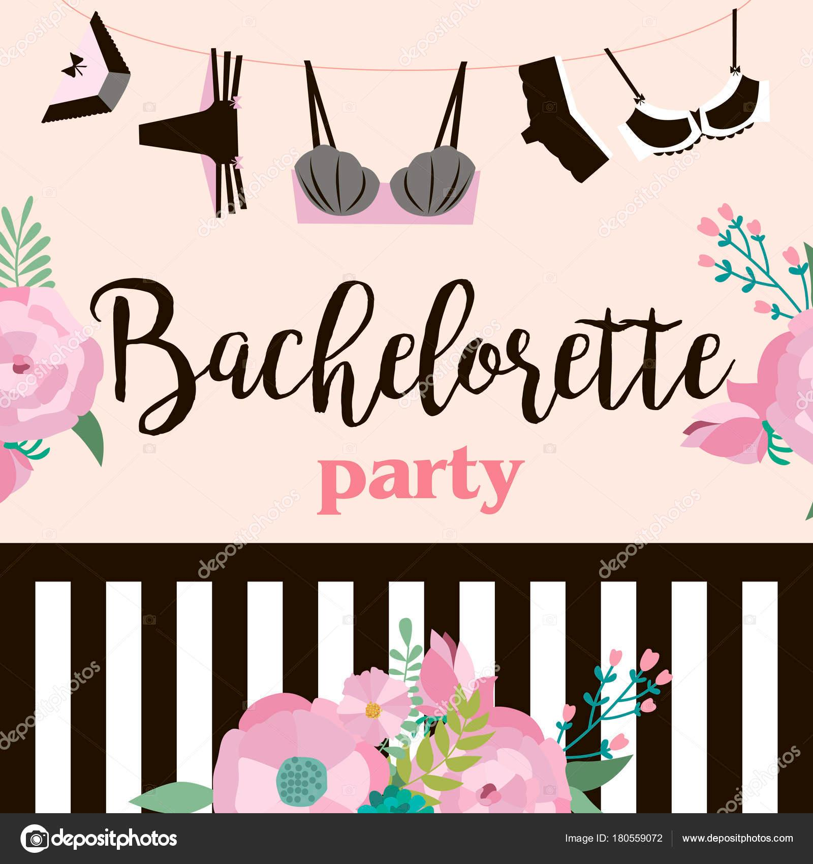 Bachelorette Party Invitation Cards