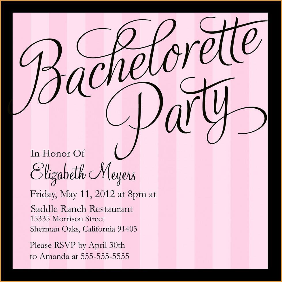 Bachelorette Party Invitation Designs
