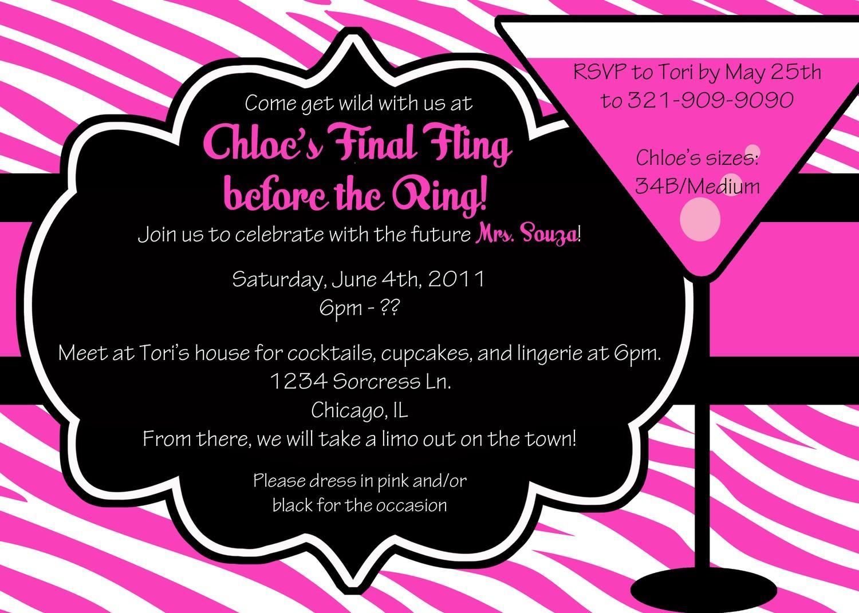 Bachelorette Party Invitation Template Free