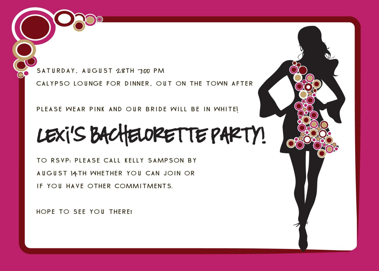 Bachelorette Party Invite Template