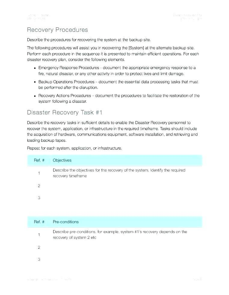 Backup Policy Template Excel