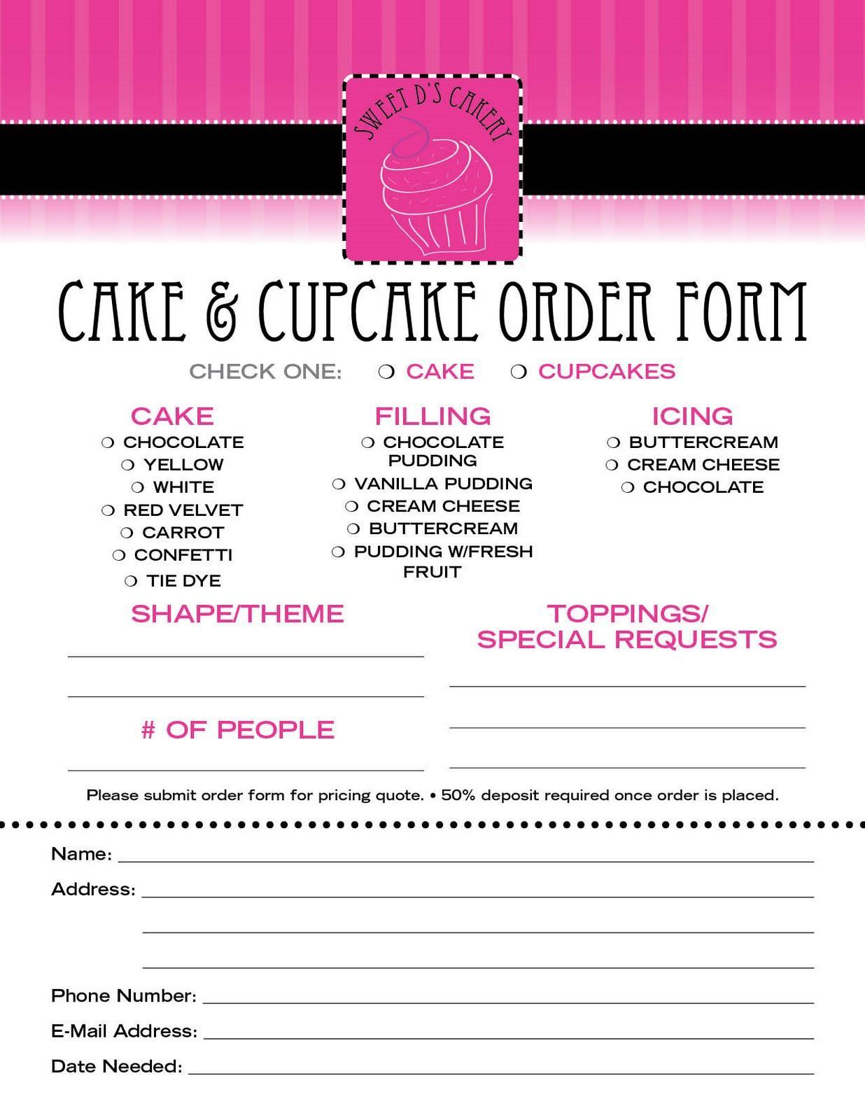 Bakery Invoice Format