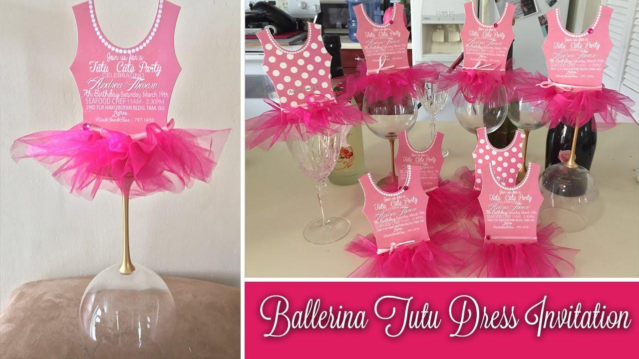 Ballerina Dress Invitation Template
