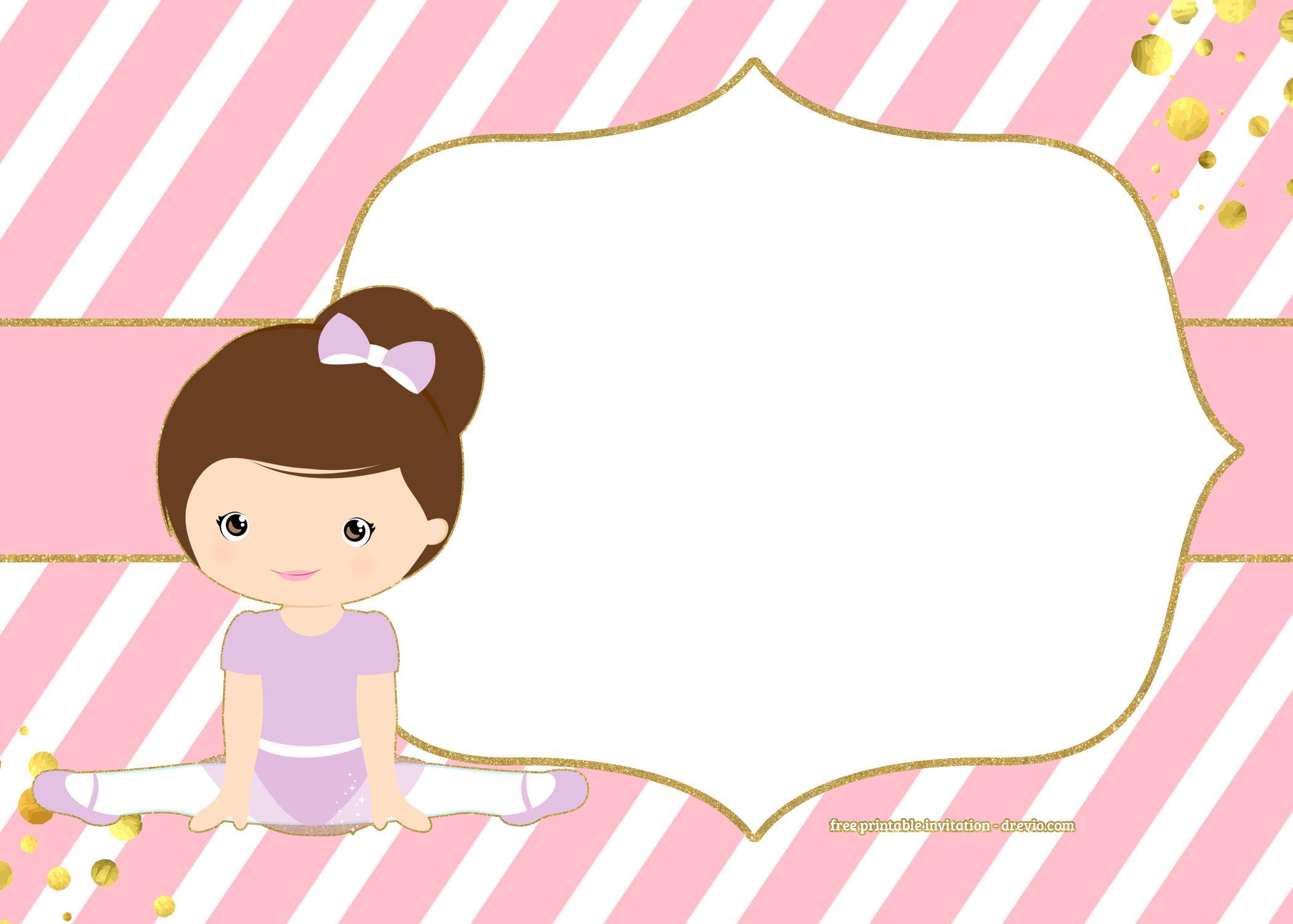 Ballerina Invitation Template
