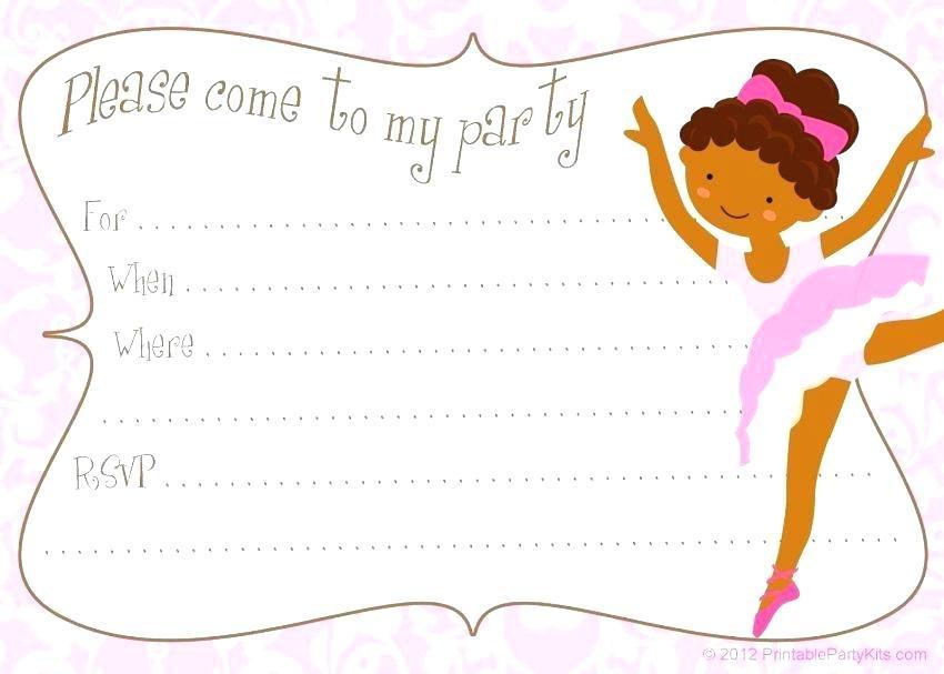 Ballerina Themed Invitation Template