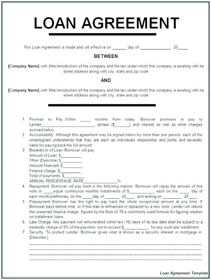 Balloon Payment Loan Agreement Template
