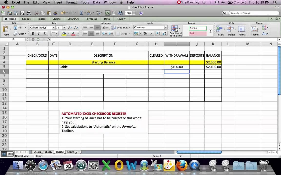 Bank Reconciliation Template Accounting