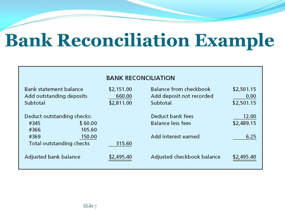 Bank Reconciliation Template Example