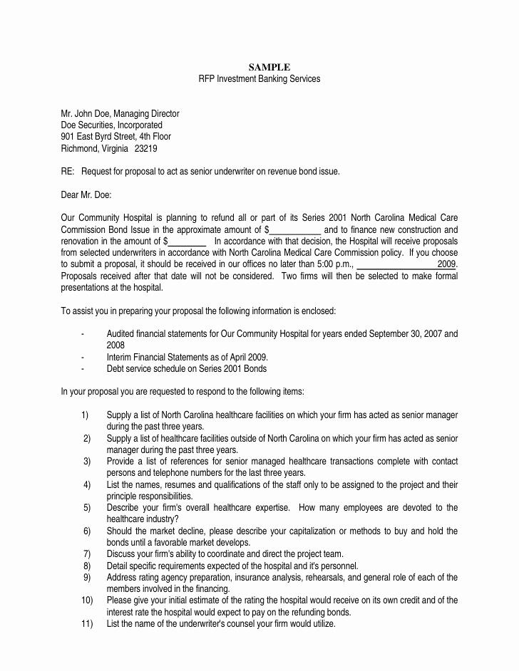 Banking Services Rfp Template