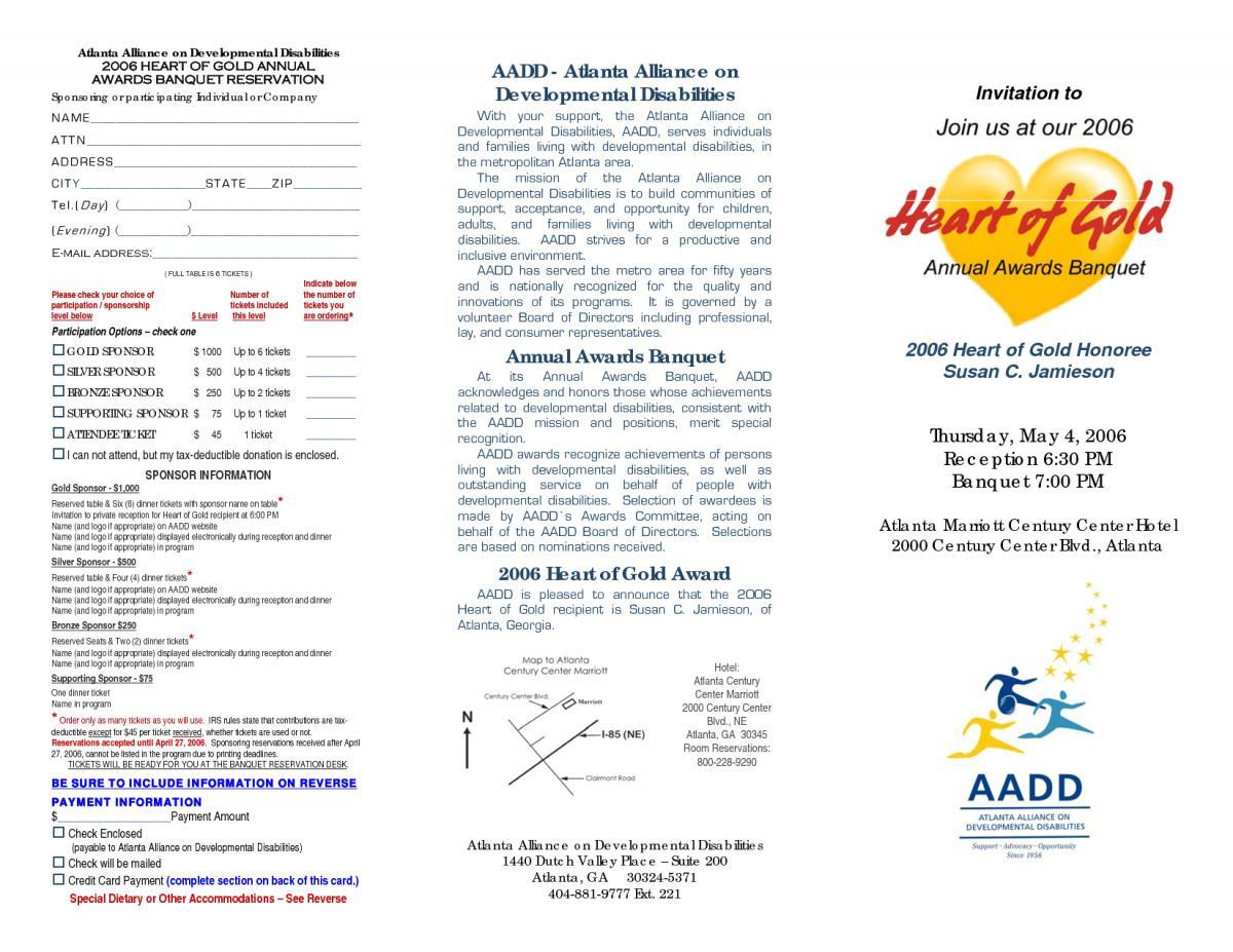 Banquet Invitation Letter Template