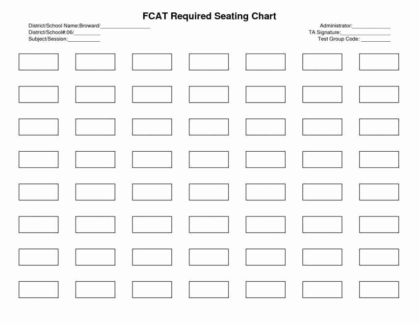 Banquet Seating Chart Template Excel