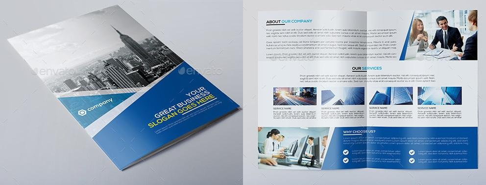 Banyu Professional Corporate Brochure Templates Free Download