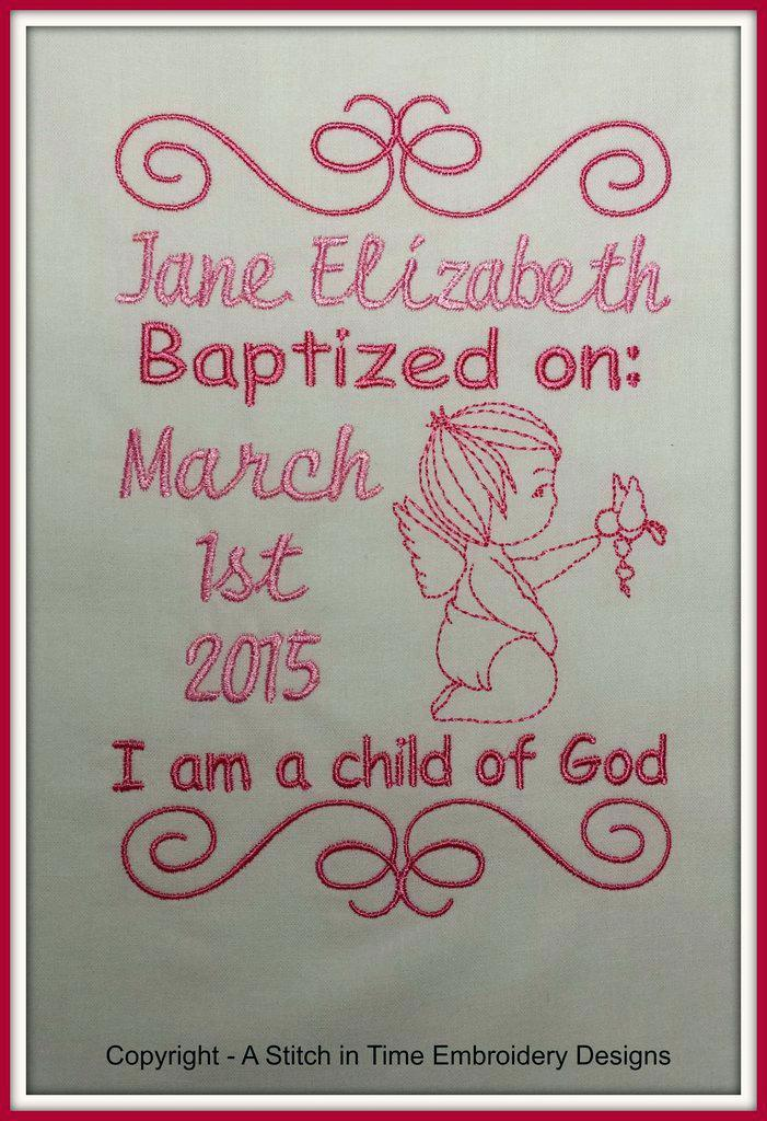 Baptism Announcement Sample
