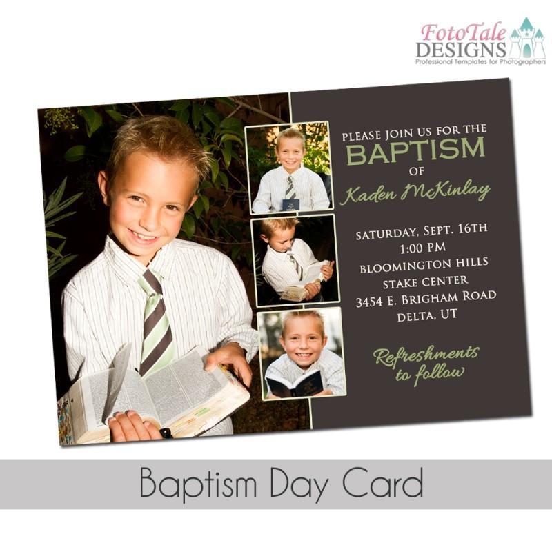 Baptism Announcement Template Lds