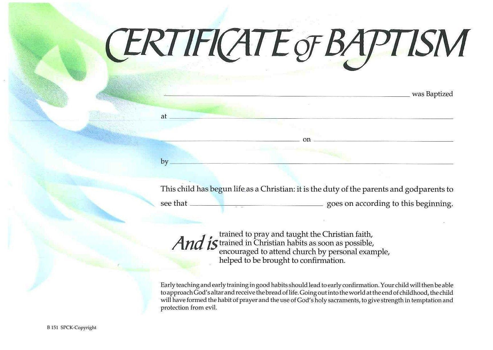 Baptism Certificate Template Philippines