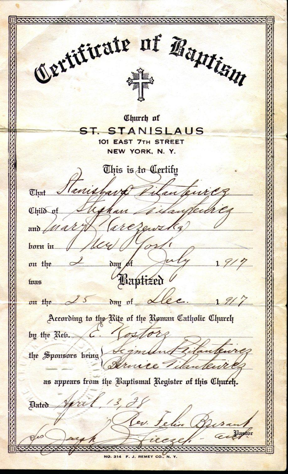Baptism Certificates Templates Word