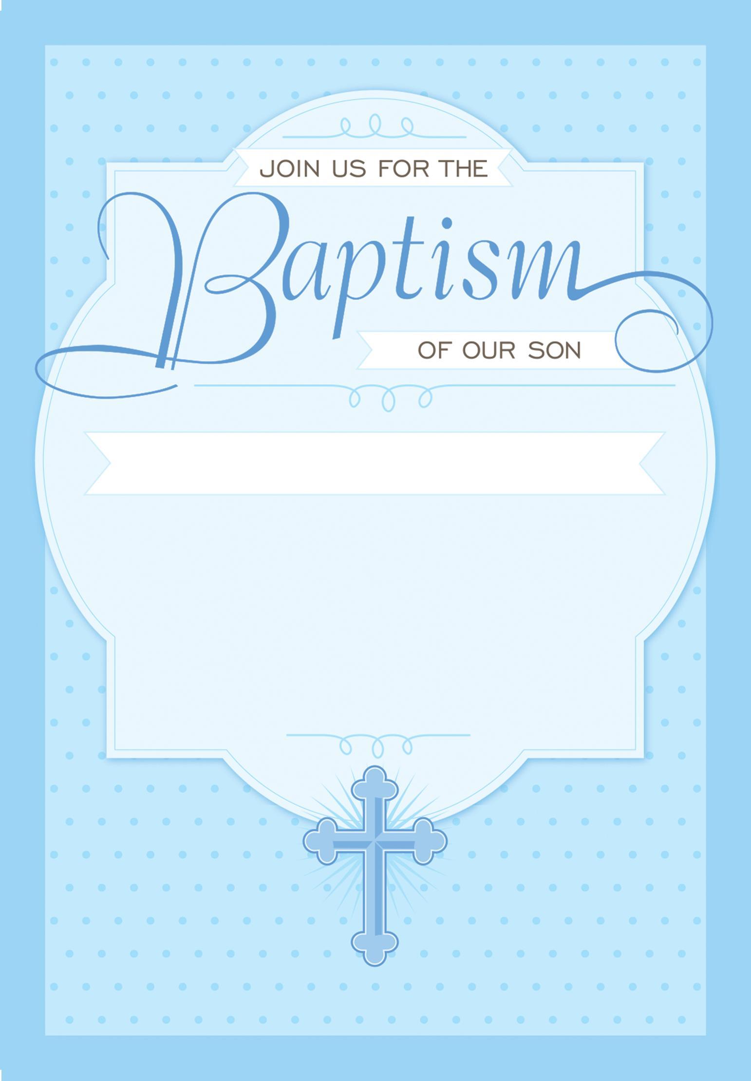Baptism Invitation Sample Template