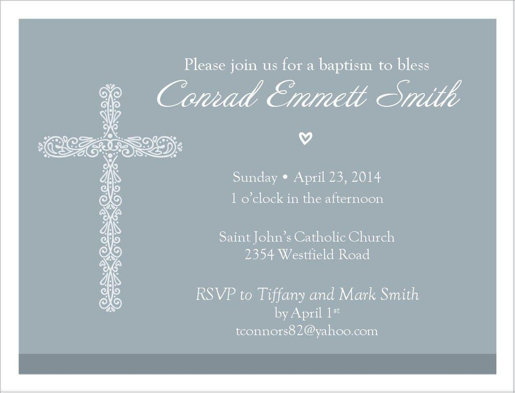 Baptism Invitations In Spanish Template