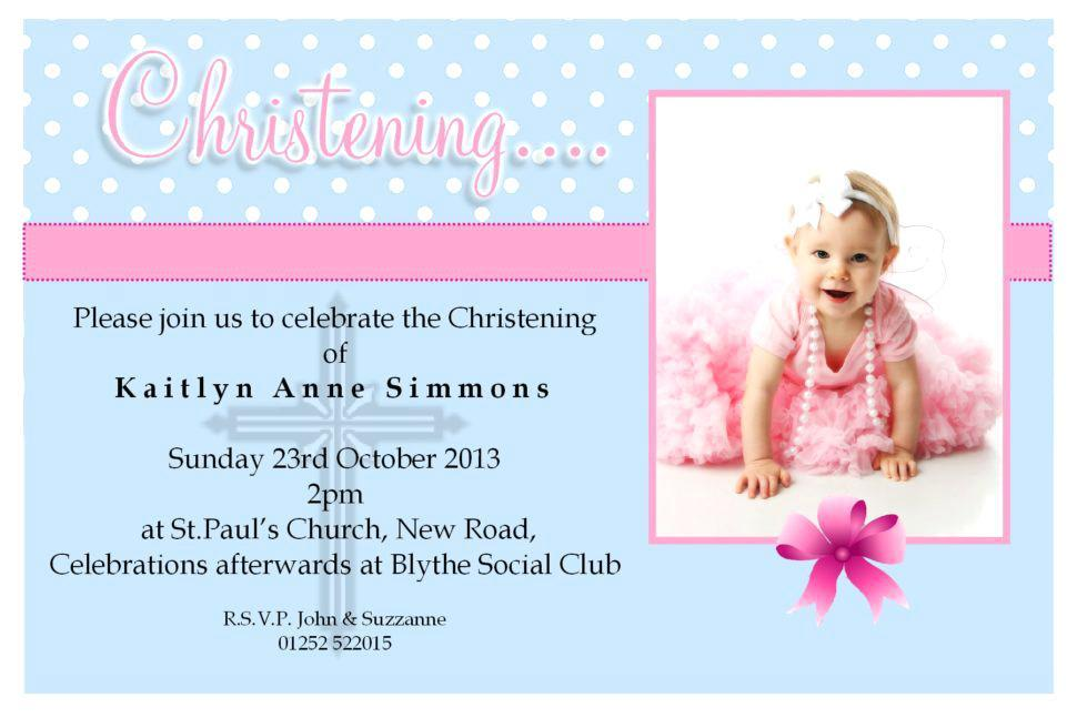 Baptismal And Birthday Invitation Template