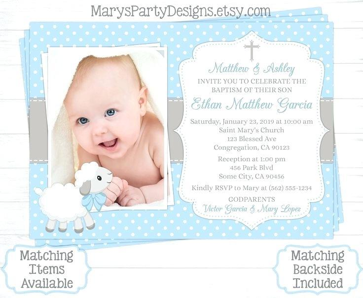 Baptismal Invitation Blank Template
