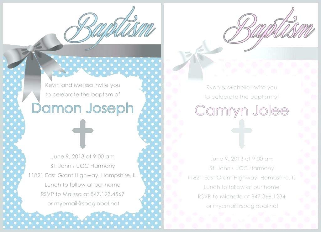 Baptismal Invitation Template