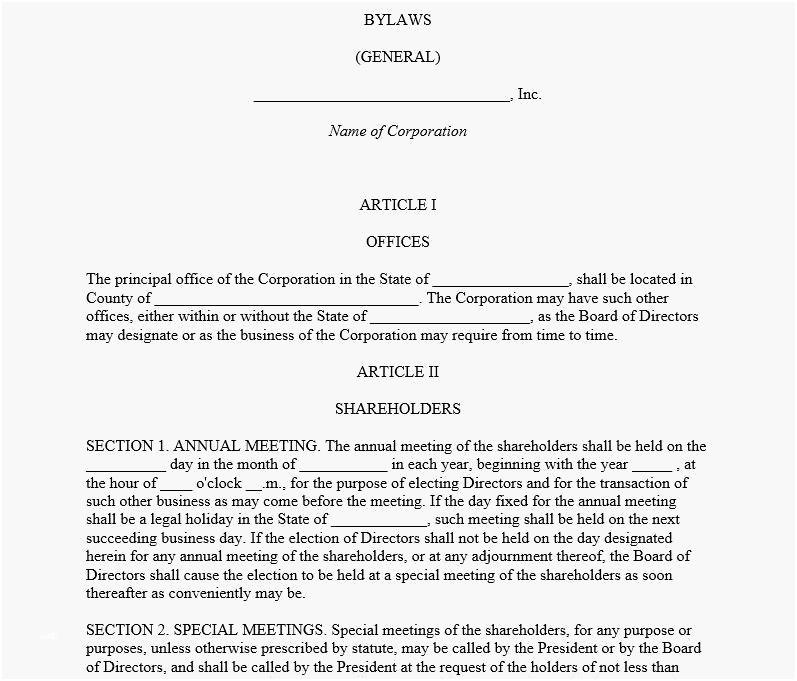 Baptist Church Constitution And Bylaws Template