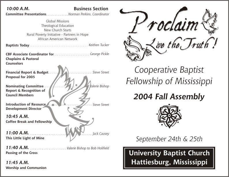 Baptist Church Program Templates