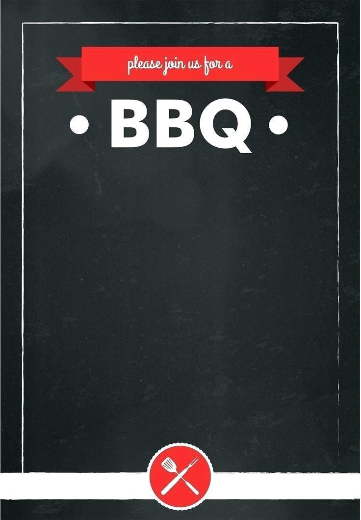 Barbecue Invitation Template Free