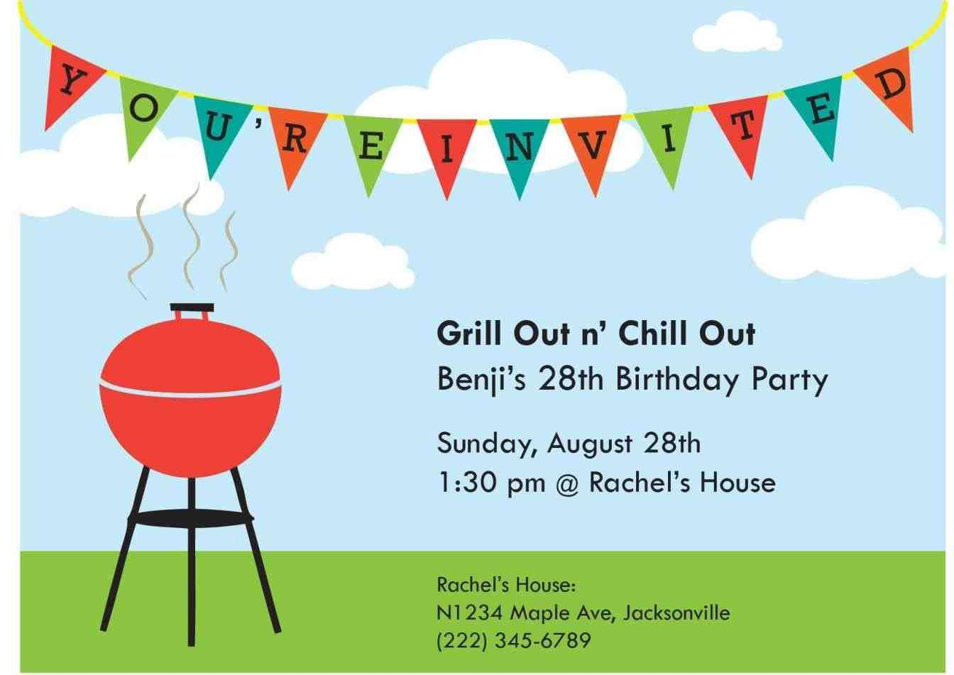 Barbecue Party Invite Template