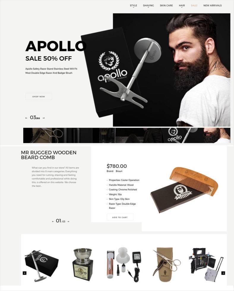 Barber Shop Website Templates