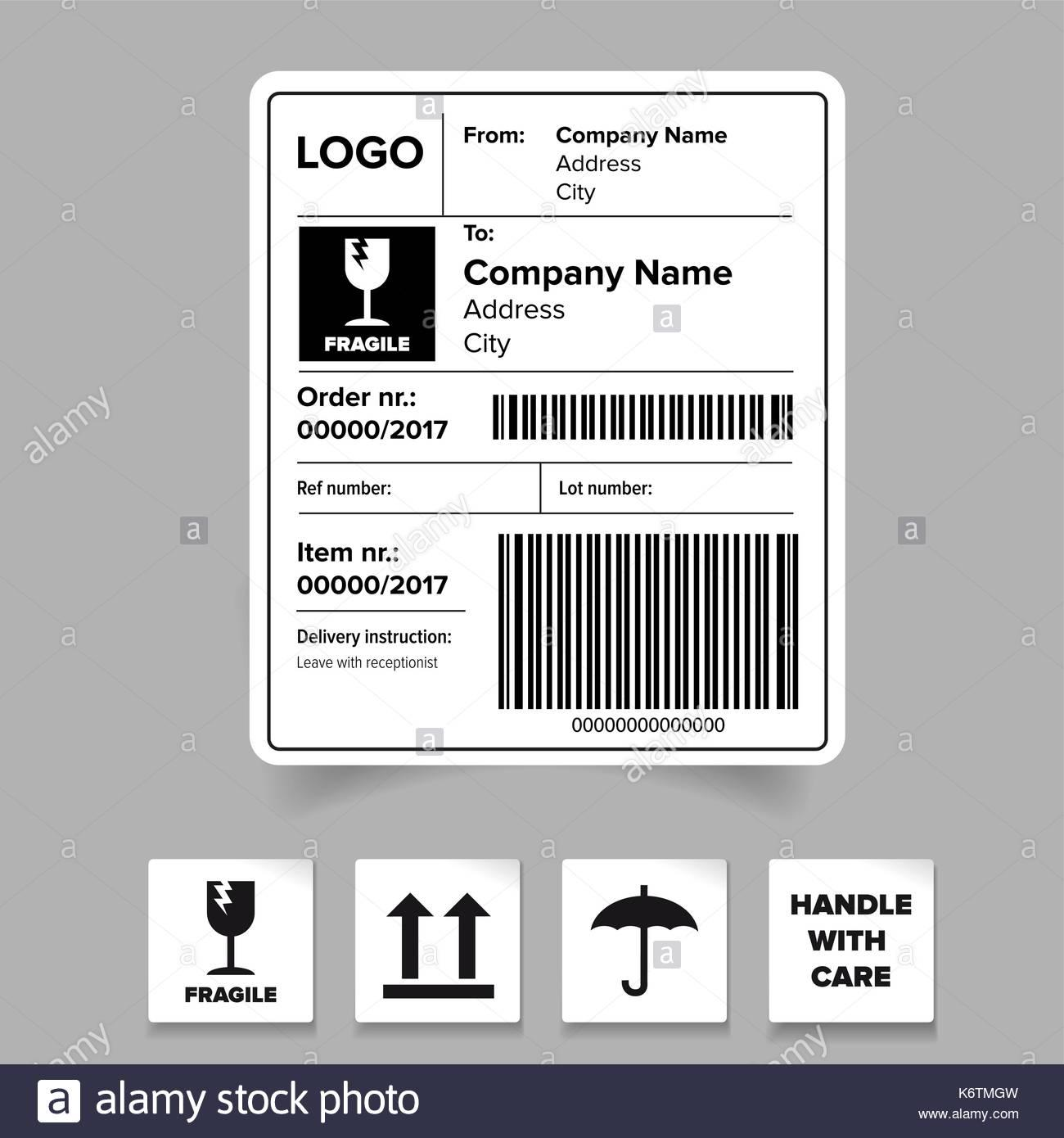 Barcode Label Template