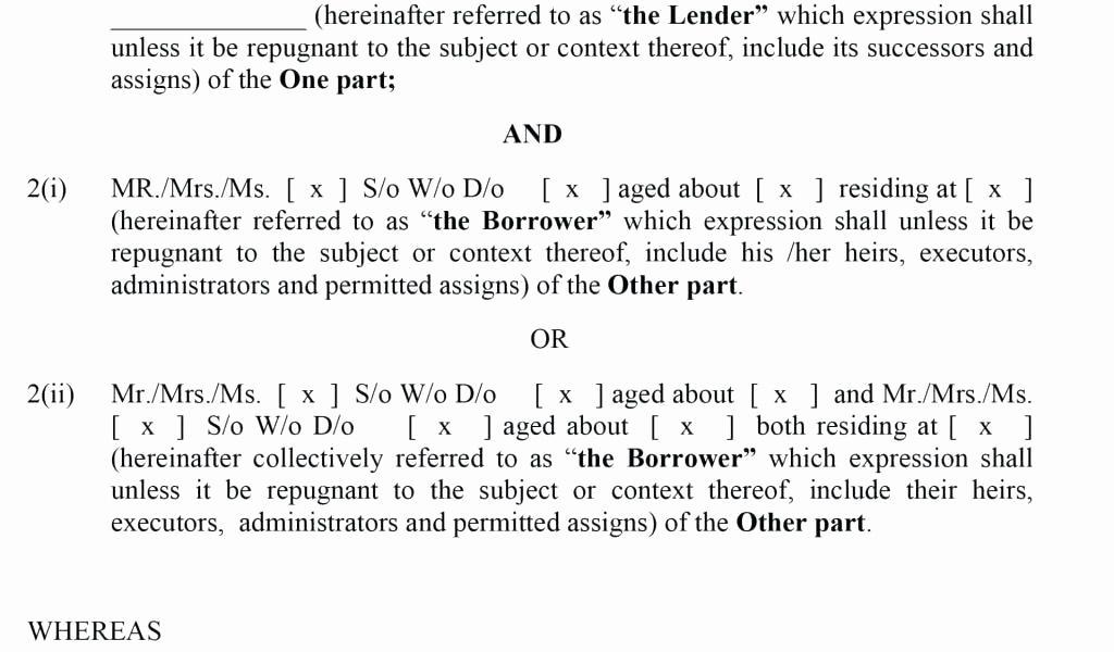 Barter Agreement Template Word
