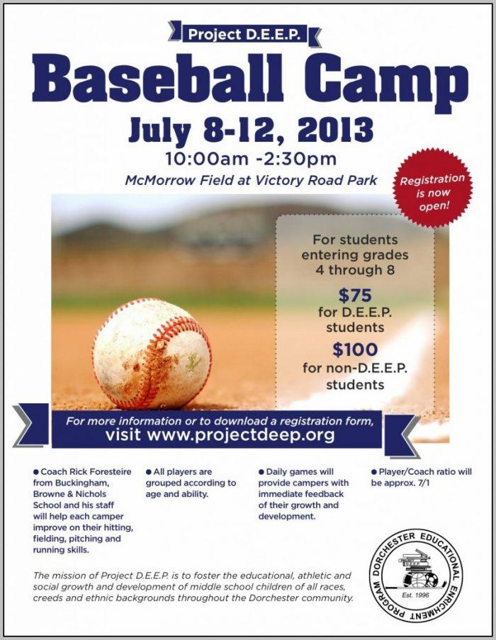 Baseball Camp Flyer Template