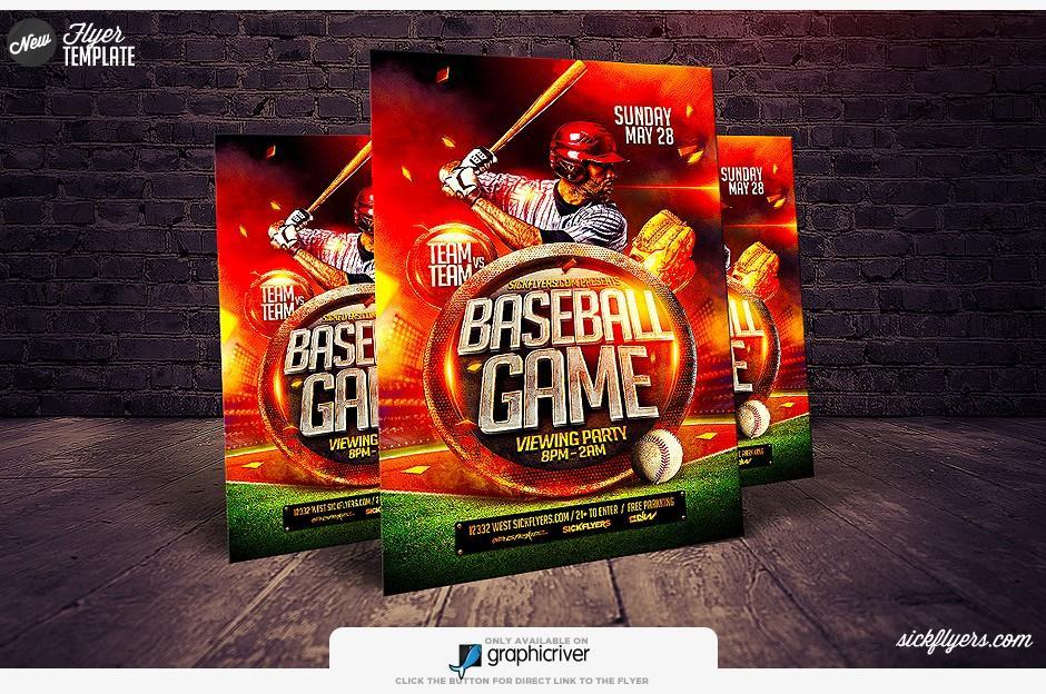 Baseball Flyer Template Psd