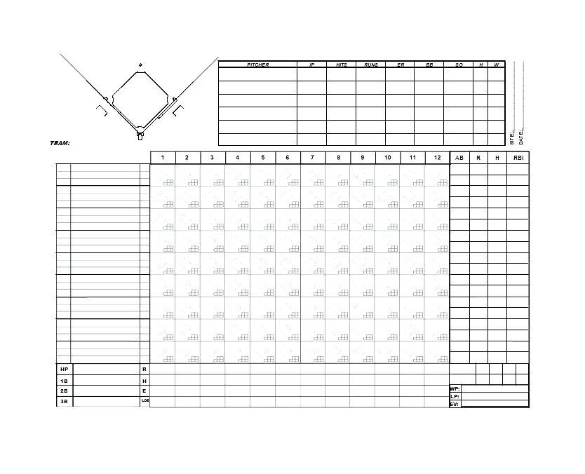 Baseball Team Stats Template