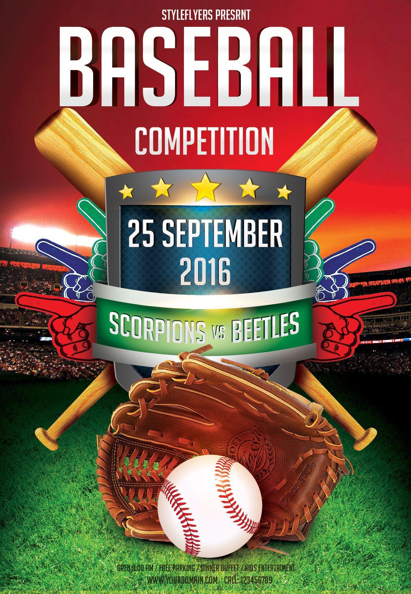 Baseball Themed Flyer Templates