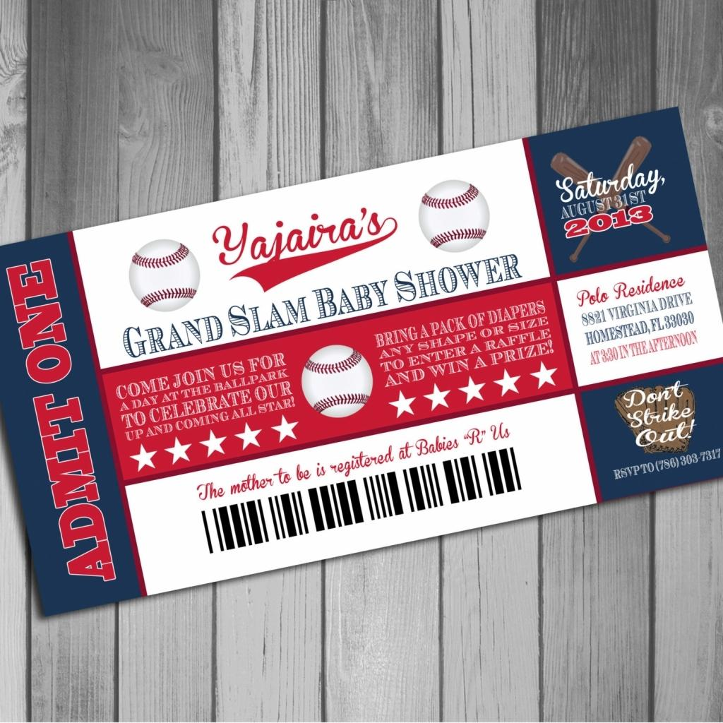 Baseball Ticket Invitations Template Free