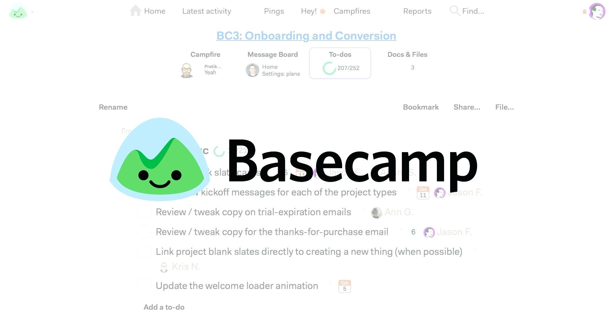 Basecamp Project Template Examples